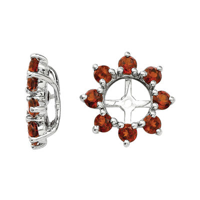Genuine Garnet Sterling Silver Earring Jackets