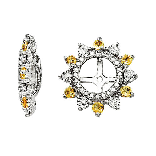Genuine Citrine Sterling Silver Earring Jackets