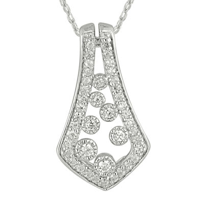 1/4 CT. T.W. Diamond Kite-Shaped Pendant Necklace
