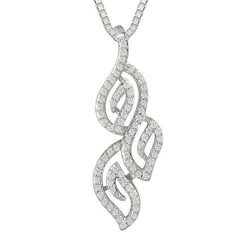 1/3 CT. T.W. Diamond 10K White Gold Pendant Necklace