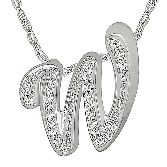 1 7 Ct Tw Diamond Sterling Silver W Pendant