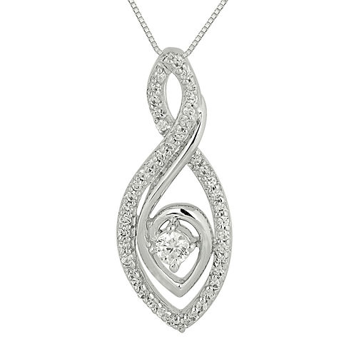 1/3 CT. T.W. Diamond Loop Pendant Necklace