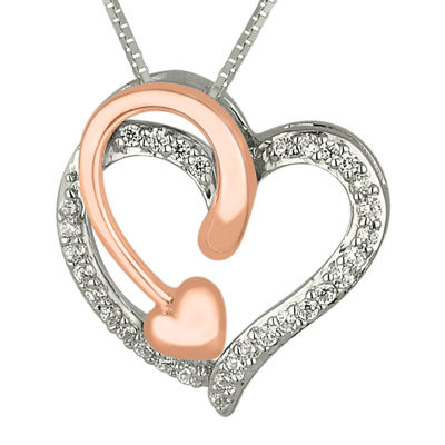 1/8 CT. T.W. Diamond Heart and Arrow Pendant Necklace