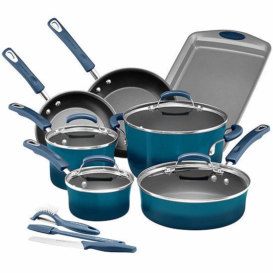 Rachael Ray® Hard Enamel Nonstick 14-pc. Cookware Set