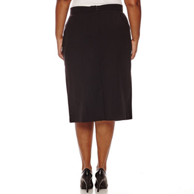 Worthington High-Waist Pencil Skirt - Plus