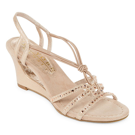 New York Transit Womens News To Me Wedge Sandals