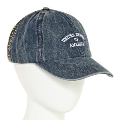 Mixit USA Denim Embroidered Baseball Cap