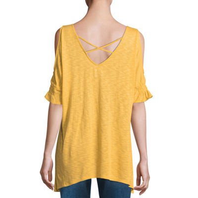 a.n.a Crossback Cold Shoulder Top - Tall