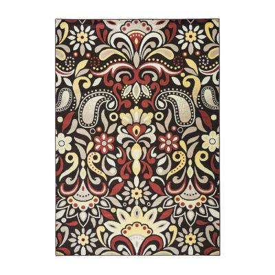 Rizzy Home Bay Side Collection Isabelle Floral Rug