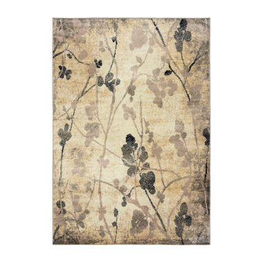 Rizzy Home Bay Side Collection Maisie Floral Rug
