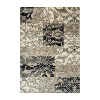 Rizzy Home Bay Side Collection Millie Patchwork Accent Rug