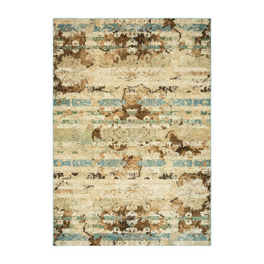 Rizzy Home Bennington Collection Sienna Abstract Area Rug
