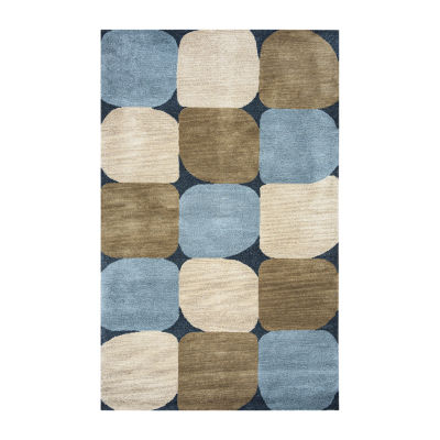 Rizzy Home Colours Collection Abigail Abstract Area Rug