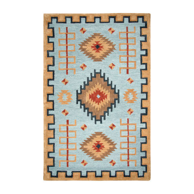 Rizzy Home Mesa Collection Bellarose Hand-Tufted Various Area Rug