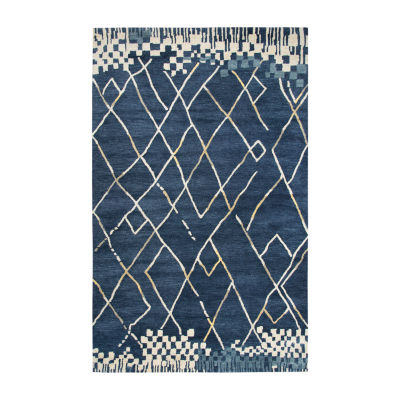 Rizzy Home Marianna Fields Collection Celestial Hand-Tufted Abstract Rug