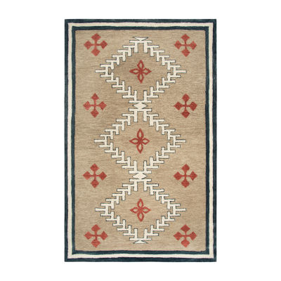 Rizzy Home Mesa Collection Devani Hand-Tufted Diamond Area Rug