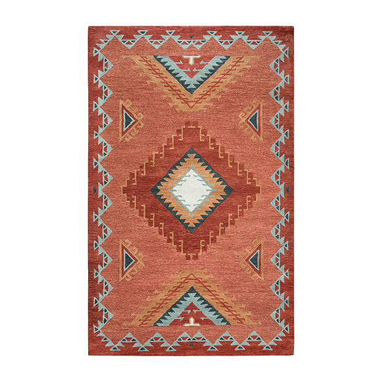 Rizzy Home Mesa Collection Dynasty Hand Tufted Diamond Area Rug
