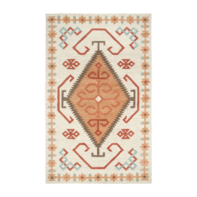 Rizzy Home Mesa Collection Eternity Hand-Tufted Diamond Area Rug