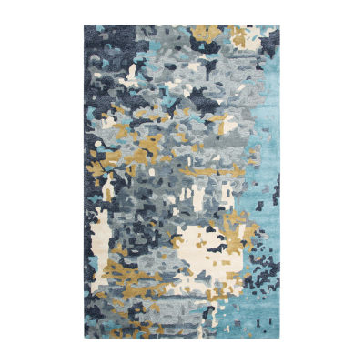 Rizzy Home Mod Collection Ginger Hand-Tufted Abstract Rug