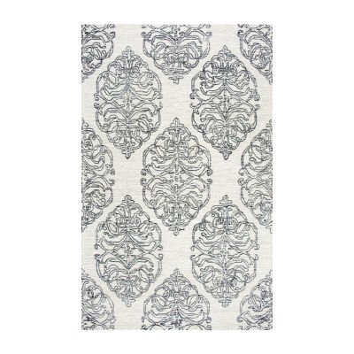 Rizzy Home Opulent Collection Huxley Hand-Tufted Medallion Rug