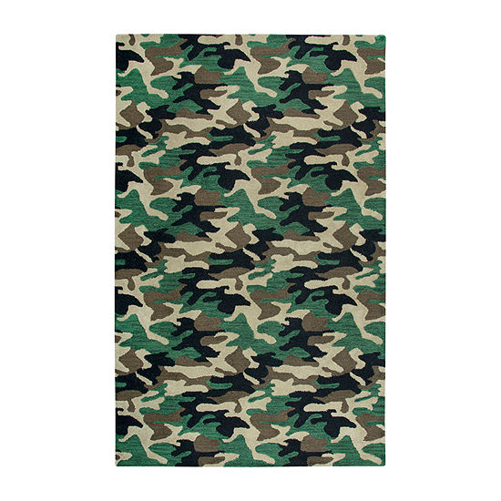 Rizzy Home Play Day Collection Kato Hand-Tufted Comouflage Rug