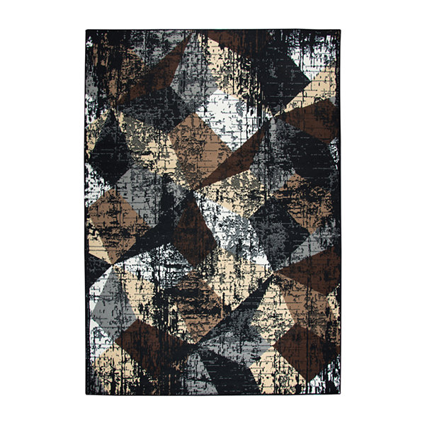 Rizzy Home Xcite Collection Zia Geometric Power-Loomed Area Rug