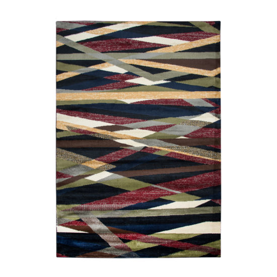 Rizzy Home Xceed Collection Zinnia Geometric Power-Loomed Area Rug