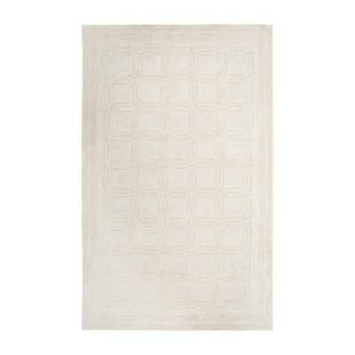 Rizzy Home Fifth Avenue Collection Ziva Squares Hand-Tufted Area Rug