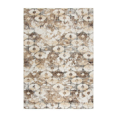 Rizzy Home Xcite Collection Zoee Geometric Power-Loomed Area Rug