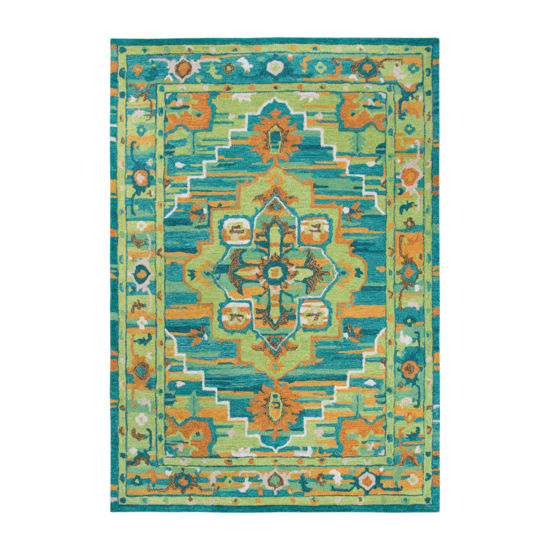 Rizzy Home Arden Loft-Kavali Collection Farah Hand-Tufted Medallion Area Rug