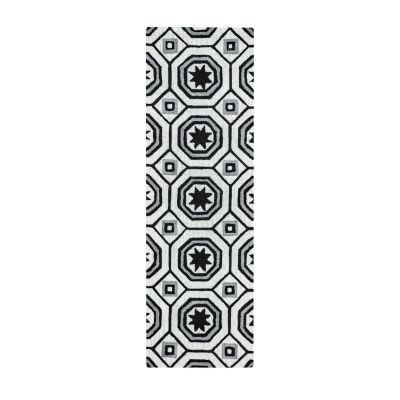 Rizzy Home Arden Loft-Lisbon Corner Collection Imani Hand-Tufted Geometric Rug