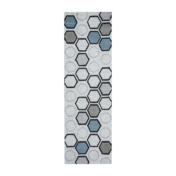 Rizzy Home Arden Loft-Lisbon Corner Collection Joelle Hand-Tufted Geometric Rug