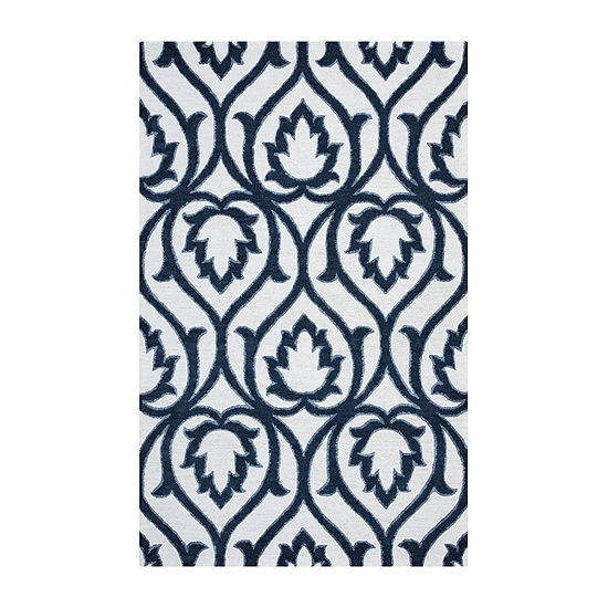 Rizzy Home Arden Loft Lisbon Corner Collection Kenna Hand Tufted Scroll Rug