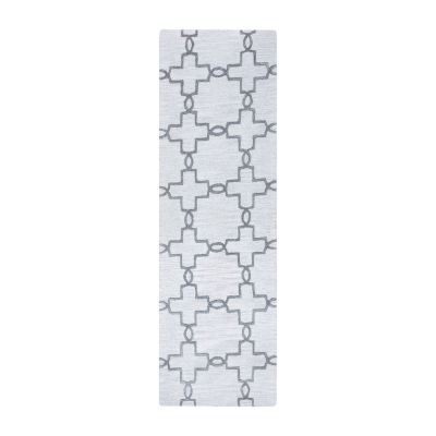 Rizzy Home Arden Loft-Lisbon Corner Collection Liberty Hand-Tufted Geometric Rug