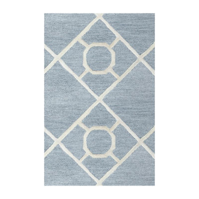 Rizzy Home Arden Loft-Lisbon Corner Collection Liv Hand-Tufted Geometric Rug