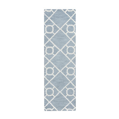 Rizzy Home Arden Loft-Lisbon Corner Collection LivHand-Tufted Geometric Rug