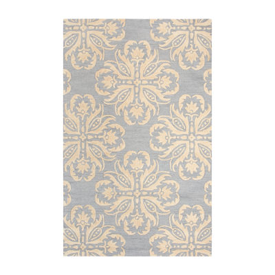 Rizzy Home Andrew Charles-Luniccia Collection Mallory Hand-Tufted Medallion Area Rug