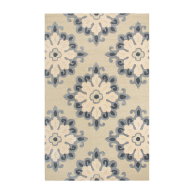 Rizzy Home Andrew Charles-Luniccia Collection Marina Hand-Tufted Medallion Area Rug