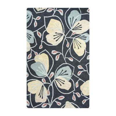 Rizzy Home Arden Loft-Lewis Manor Collection Meredith Hand-Tufted Floral Rug