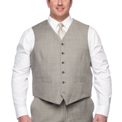Stafford Checked Classic Fit Suit Vest - Big and Tall