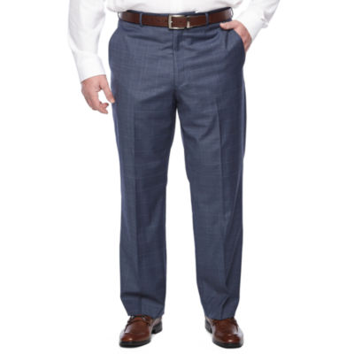 Stafford Travel Plaid Stretch Classic Fit Suit Pants - Big and Tall