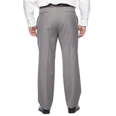 Stafford Executive Super100 Classic Fit Flat Front Pants-Big & Tall