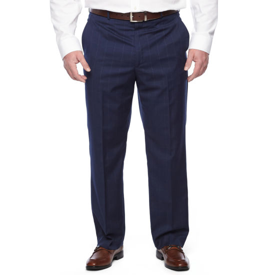 Stafford Executive Super100 Classic Fit Flat Front Pants - Big & Tall