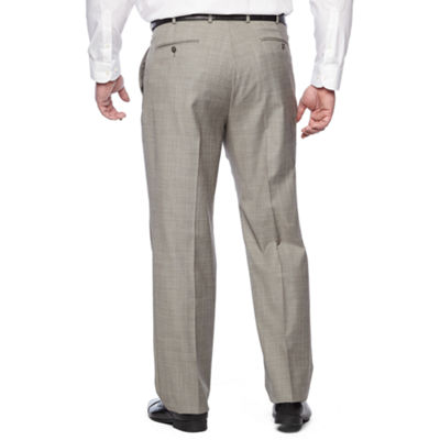 Stafford Checked Classic Fit Suit Pants - Big and Tall