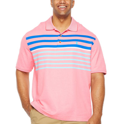 IZOD Advantage Performance Engineered Stripe Polo Quick Dry Short Sleeve Stripe Knit Polo Shirt Big and Tall