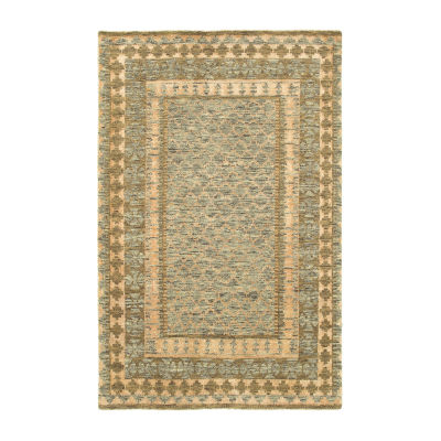 Oushak Striped Damask Rug