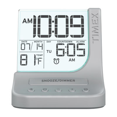 Timex T125S Color Changing Dual Alarm Clock with USB Charging