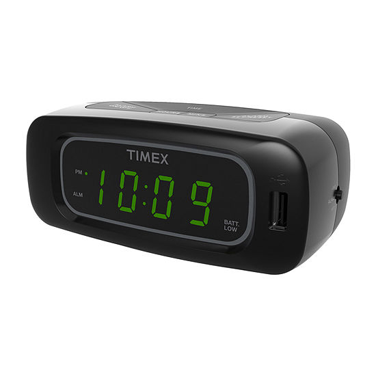 Timex T1210B Alarm Clock with USB Charge Port