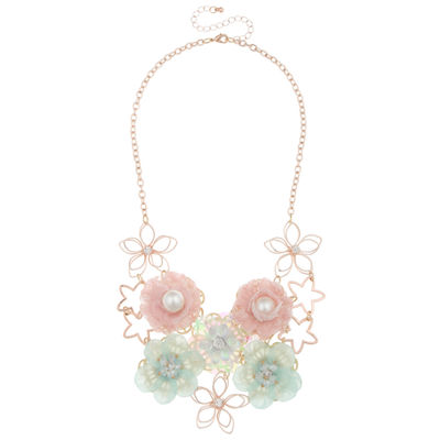 Decree Womens Clear Statement Necklace