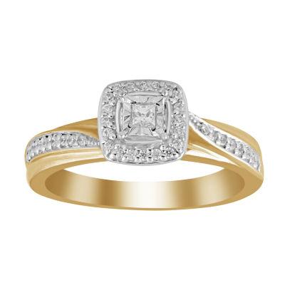 Womens 1/5 CT. T.W. White Diamond 10K Gold Promise Ring